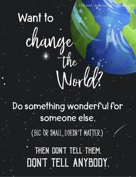 Kind World Poster Printable