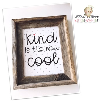 Kind is the new Cool Little Bird Kindergarten Printshop