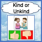Kind & Unkind Behavior Identification and Discussion Cards