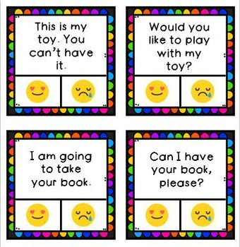 Kind vs. Unkind Clip Cards