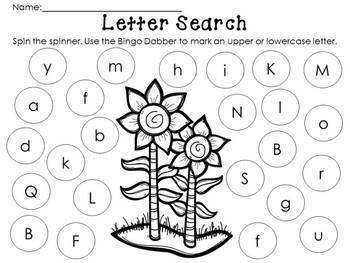 Kindegarten Fall Literacy Center - Letter Hunt