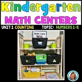 Math Centers Kindergarten - Counting and Cardinality Numbers to 5