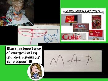 Kindergarten Orientation PowerPoint Literacy Focus Back to School Literacy Night