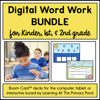 {Distance Learning} Digital Phonics Games for K, 1st, & 2nd Grade   BOOM Cards™