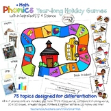 Phonics Year-long Holiday Games + Math, S.S. & Science