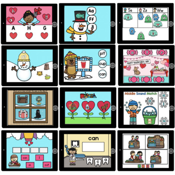 Kinder 1st Grade February Literacy Centers COMBO