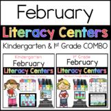 Kinder 1st Grade February Literacy Centers