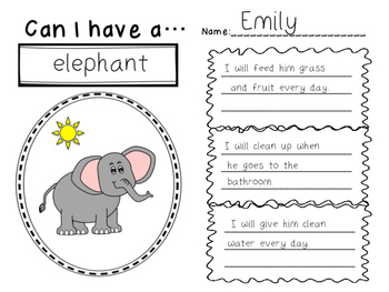 Elementary Persuasive Writing Template