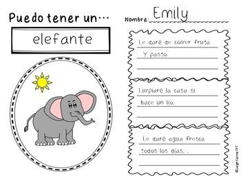 Persuasive Writing Template in Spanish