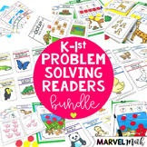 Kinder - 1st Grade Problem Solving Math Readers Bundle