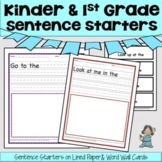 Kinder & 1st Grade Sentence Starters, PreK, too!