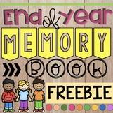 Kinder - 2nd End of Year Memory Book FREEBIE