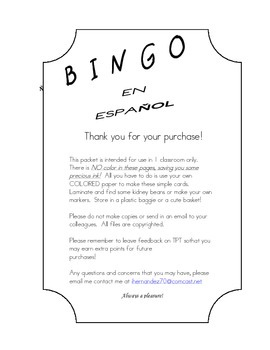 Kinder- 2nd Summer/RTI  SPANISH Bingo SILABAS Review with