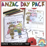 Kinder ANZAC Day Pack - Kindergarten / Foundation / PREP