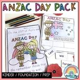 ANZAC Day Activity Pack - Kindergarten   Foundation   Prep