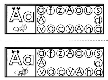 Alphabet and Number Hole Puncher Cards (Word Work Center)