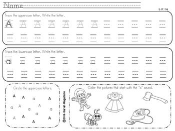 Kinder Alphabet Writing Worksheets
