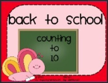 Kinder Back To School: Counting to 10