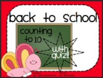 Kinder Back To School: Counting to 10 with ActivQuiz!