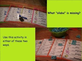 Letra L l Kinder Bilingual SLA Tesoros' Literacy Centers (3 sets)