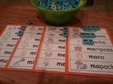 Letra Mm Kinder Bilingual SLA Tesoros' Literacy Centers (3 sets)