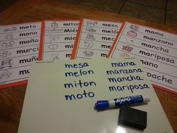 Letra Mm Kinder Bilingual SLA Tesoros' Literacy Centers (3 sets)