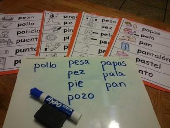 Letra Pp Kinder Bilingual SLA Tesoros' Literacy Centers (3sets)