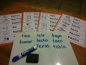 Letra Tt Kinder Bilingual SLA Tesoros' Literacy Centers (3 sets)