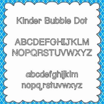 Kinder Bubble Dot Font {personal and commercial use; no li