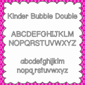 Kinder Bubble Double Font {personal and commercial use; no license needed}