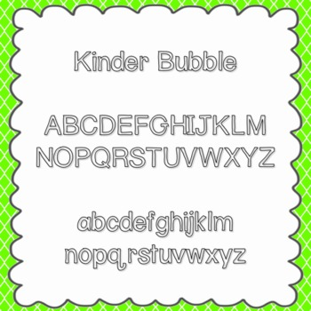Kinder Bubble Font {personal and commercial use; no licens