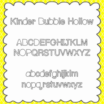 Kinder Bubble Hollow Font {personal and commercial use; no license needed}