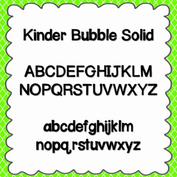Kinder Bubble Solid Font {personal and commercial use; no license needed}