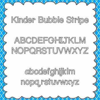 Kinder Bubble Stripe Font {personal and commercial use; no