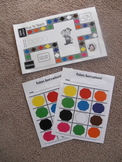Kinder Color Game Board and Color Cards