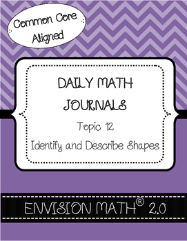 Kinder Common Core Daily EnVision Math® Journals, Topic 12