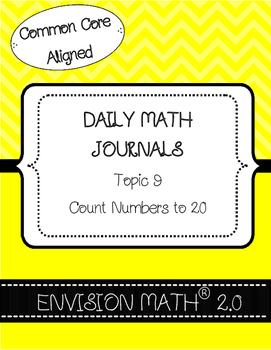 Kinder Common Core Daily EnVision Math® Journals, Topic 9 Count numbers to 20