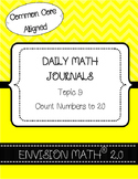 Kinder Common Core Daily EnVision Math® Journals, Topic 9