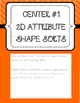 Kinder Common Core Envision Math® Centers -Top. 13 Analyze,Compare,&CreateShapes