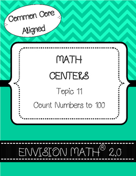Kinder Common Core Envision Math® Centers - Topic 11 Count Numbers to 100