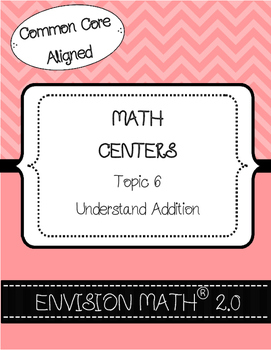 Kinder Common Core Envision Math® Centers - Topic 6 Understand Addition