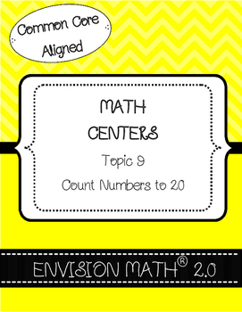 Kinder Common Core Envision Math® Centers - Topic 9 Count numbers to 20