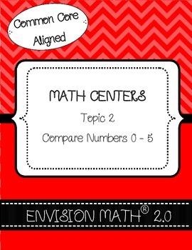 Kinder Common Core Math Centers - EnVision Math® 2.0 Topic 2 Compare Numbers 0-5