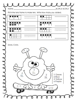 Kinder Common Core Math Pack