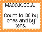 Kinder Common Core Math Posters Orange