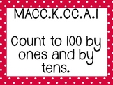 Kinder Common Core Math Posters Red