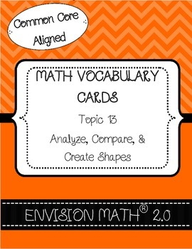 Kinder Common Core Math Vocab Cards Topic 13 - Analyze, Compare, & Create Shapes