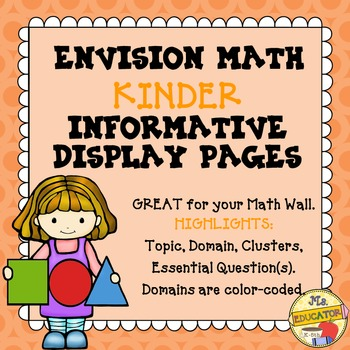 EnVision Math Common Core - Kinder Informative Display Pages