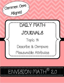 Kinder CommonCore EnVision Math® Journals,14Describe&Compa