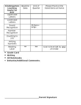 Kinder Conference Form